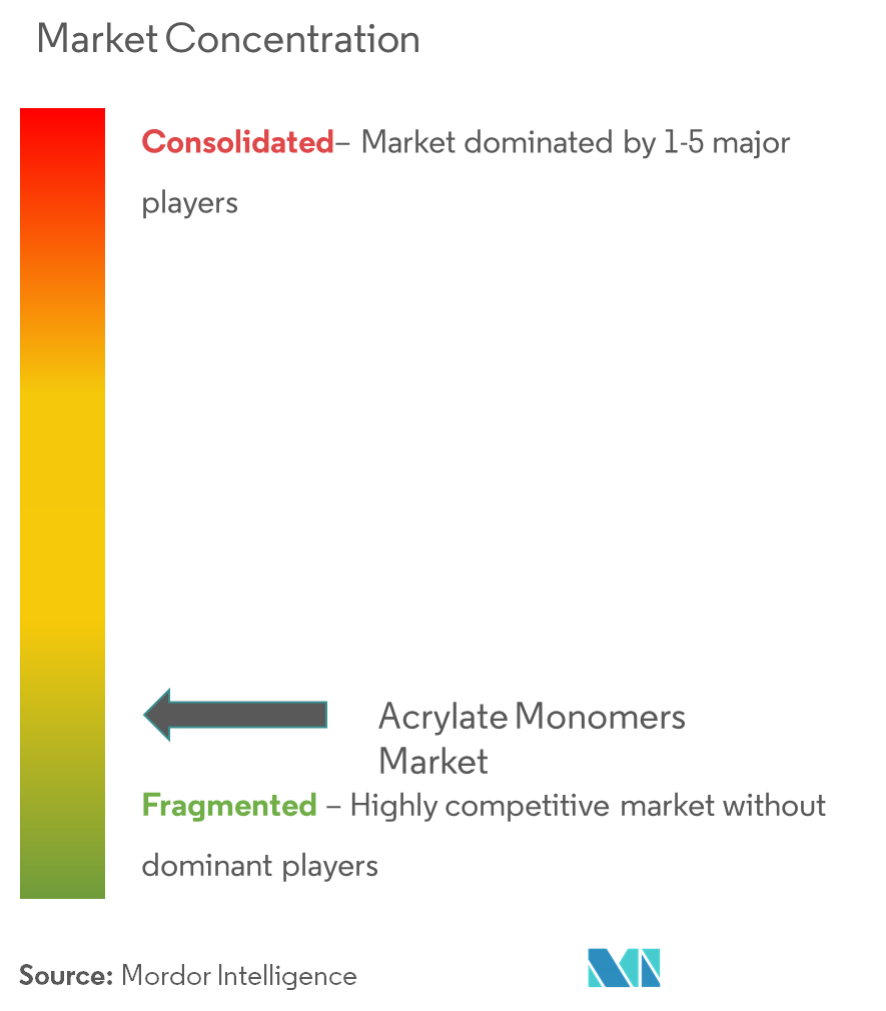 Market Concentration - Acrylate Monomers Market