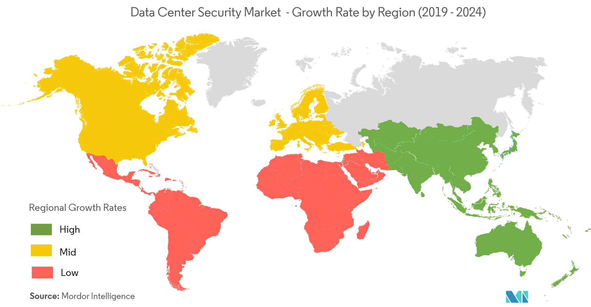 Data center security map