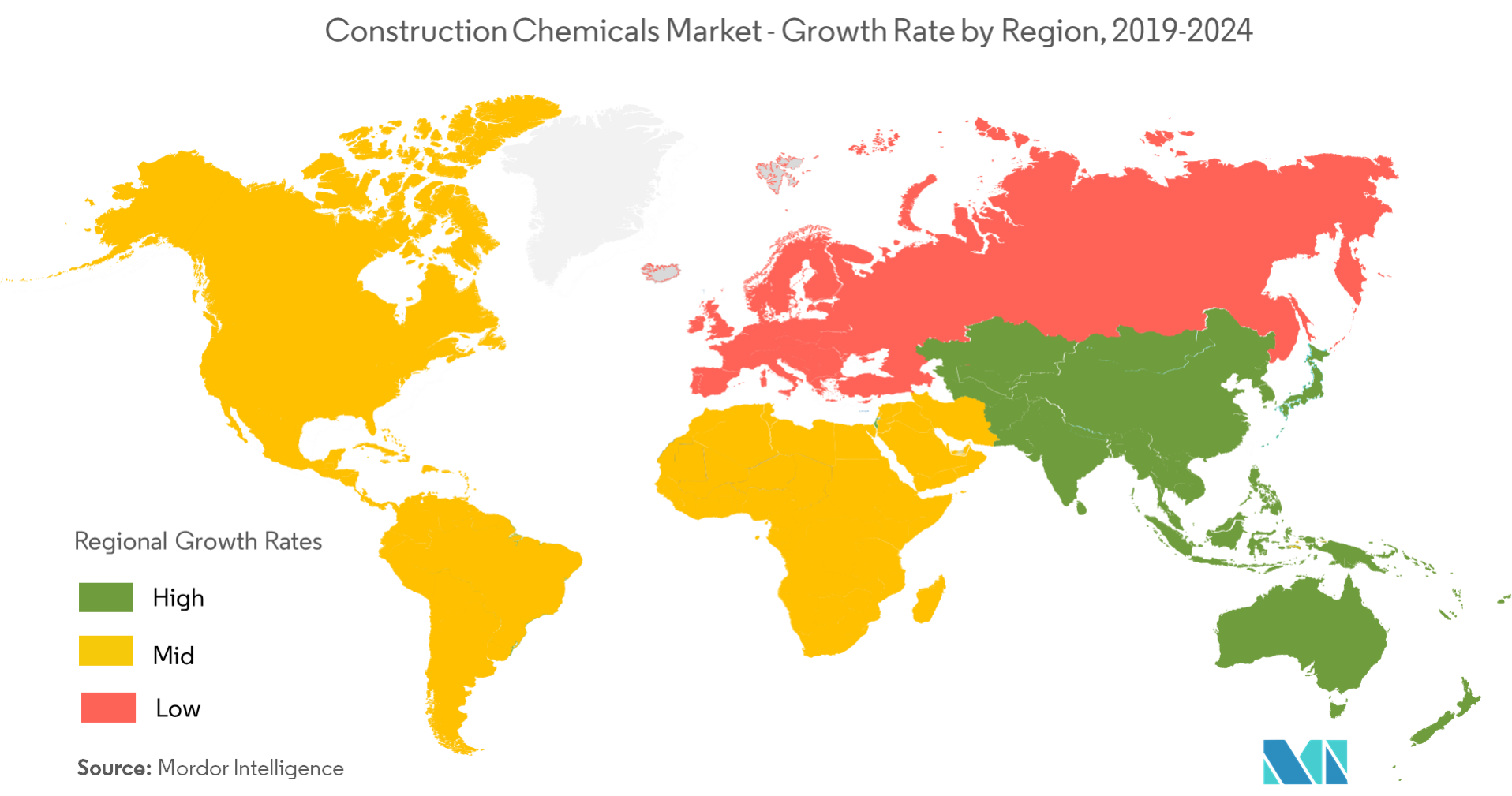 Geography - Europe Construction Chemicals market