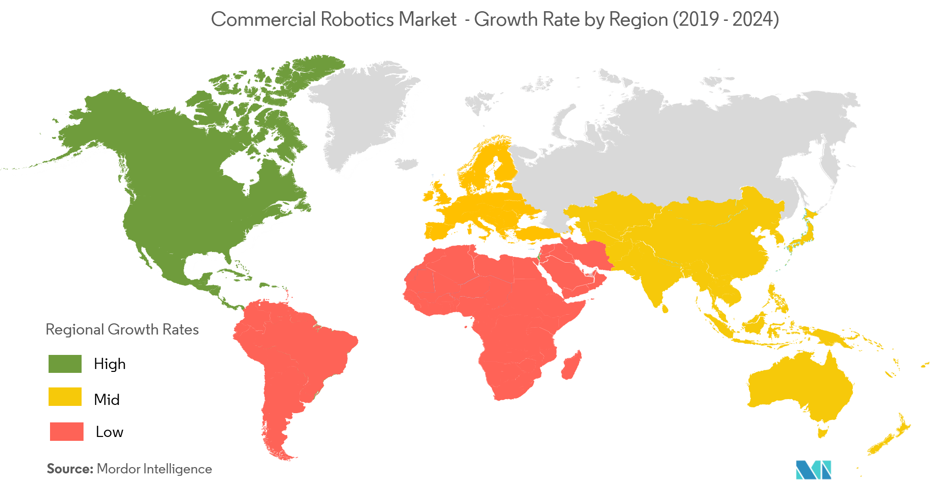 Commercial Robotics Market Growth Rate By Region