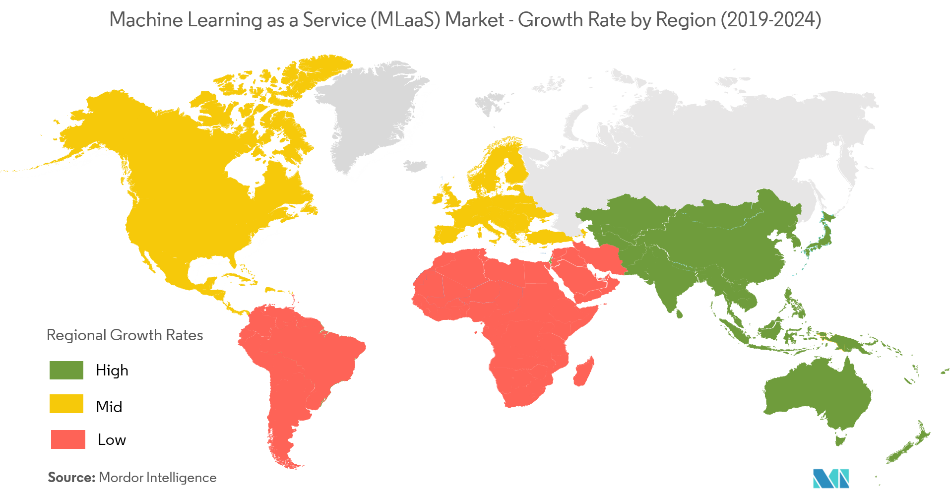 Machine Learning as a Service (MLaaS) Market Growth By Region