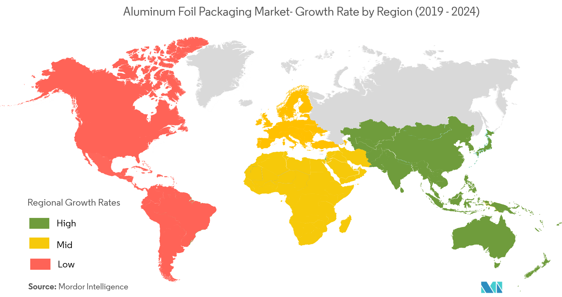 Aluminum Foil Packaging Market Growth Rate By Region