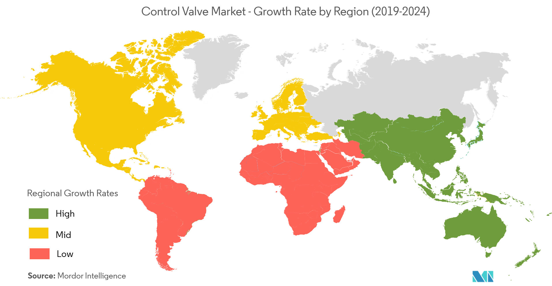 Control Valve Market Growth Rate By Region