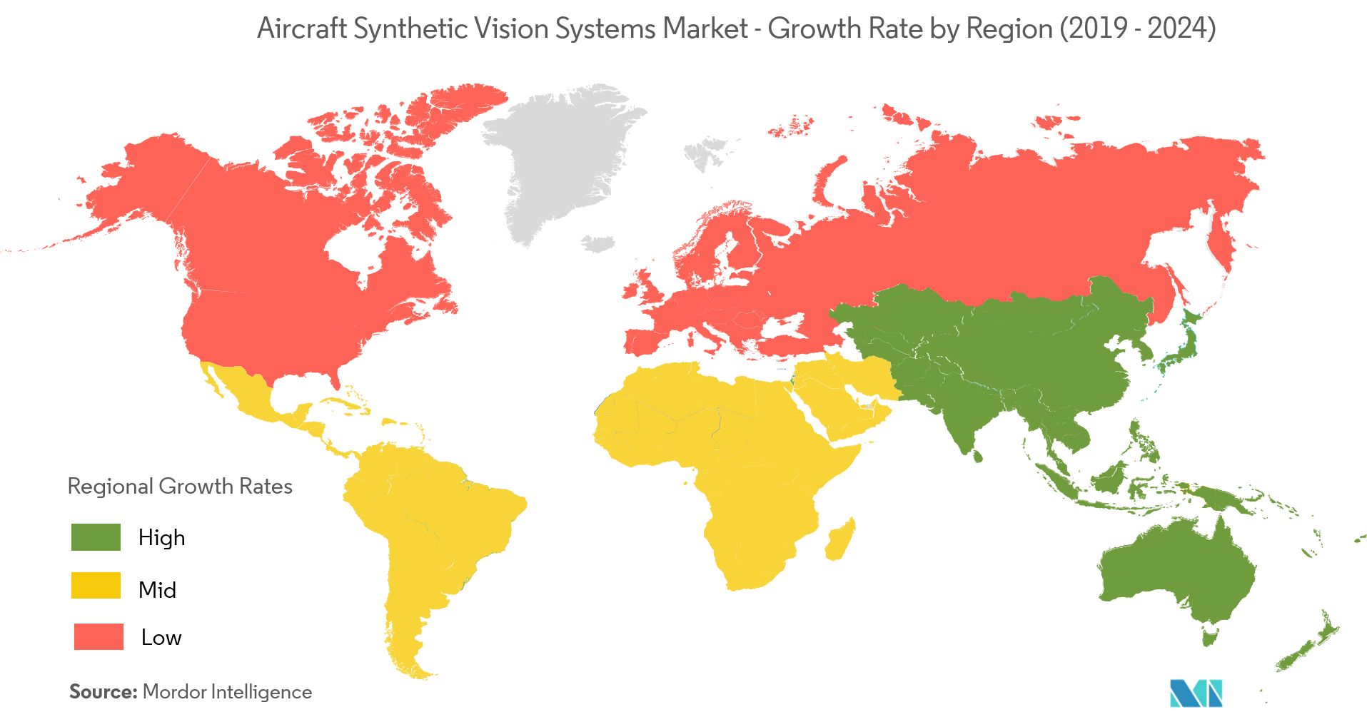 Aircraft Synthetic Vision Systems Market -Geography