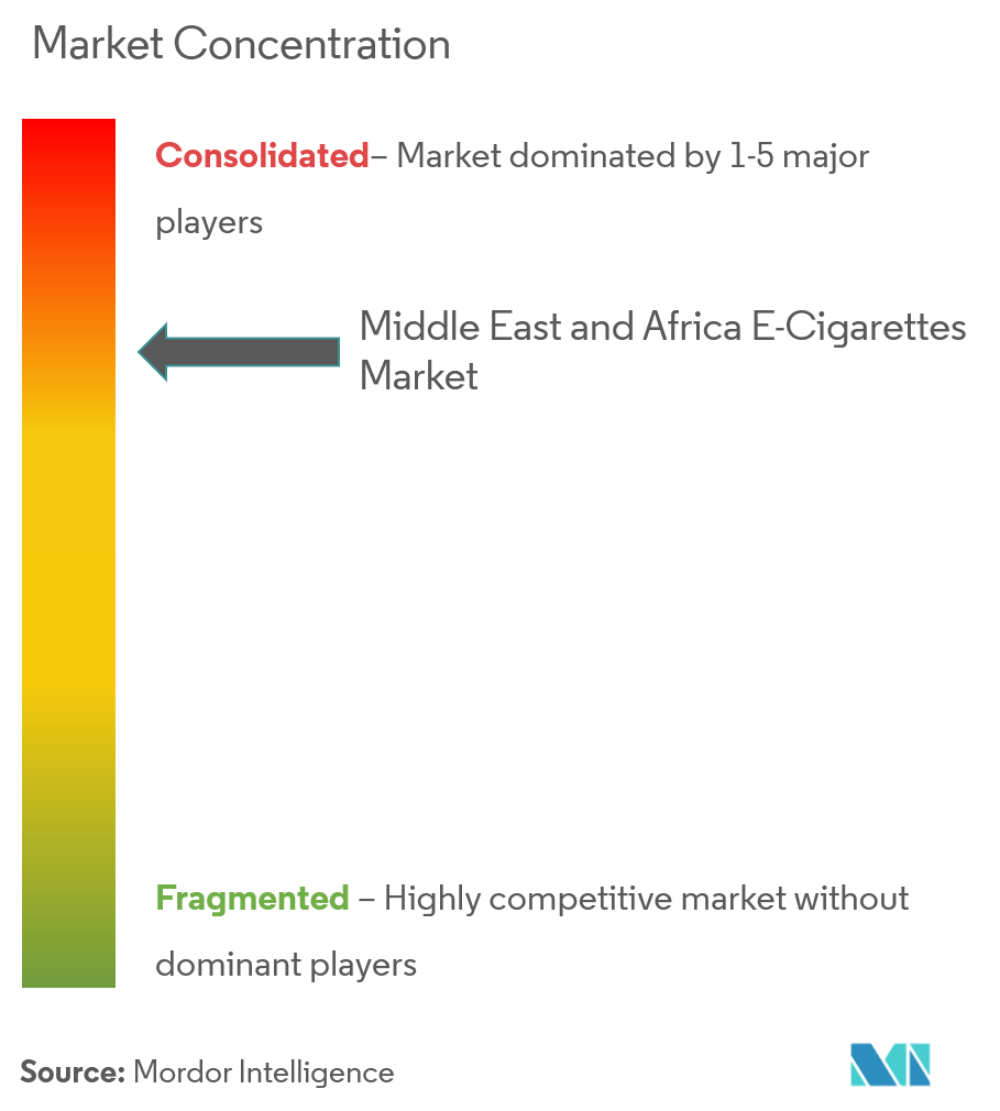 Middle East & Africa E-cigarette market | Industry share