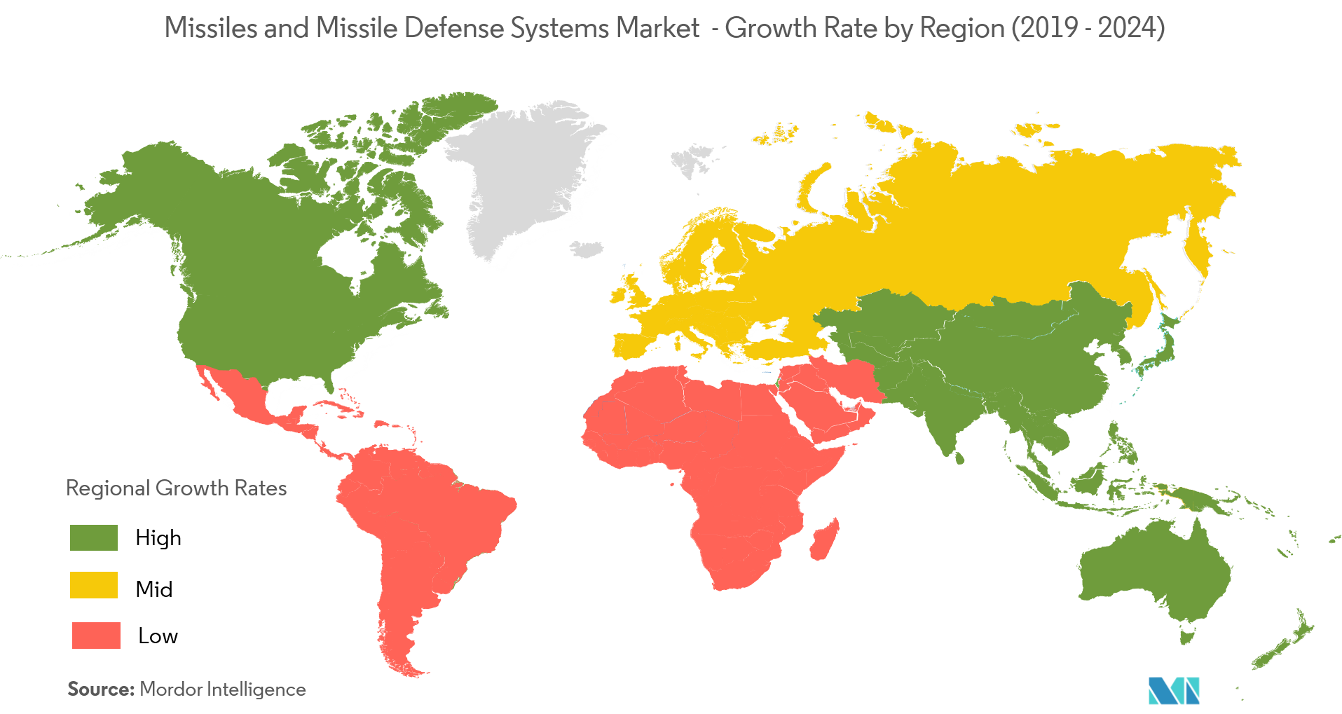 Missiles and Missile Defense Systems Market geography 1