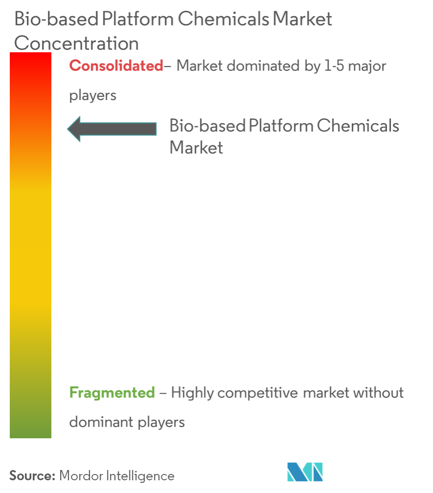 Bio-based Platform Chemicals Market - Market Concentration