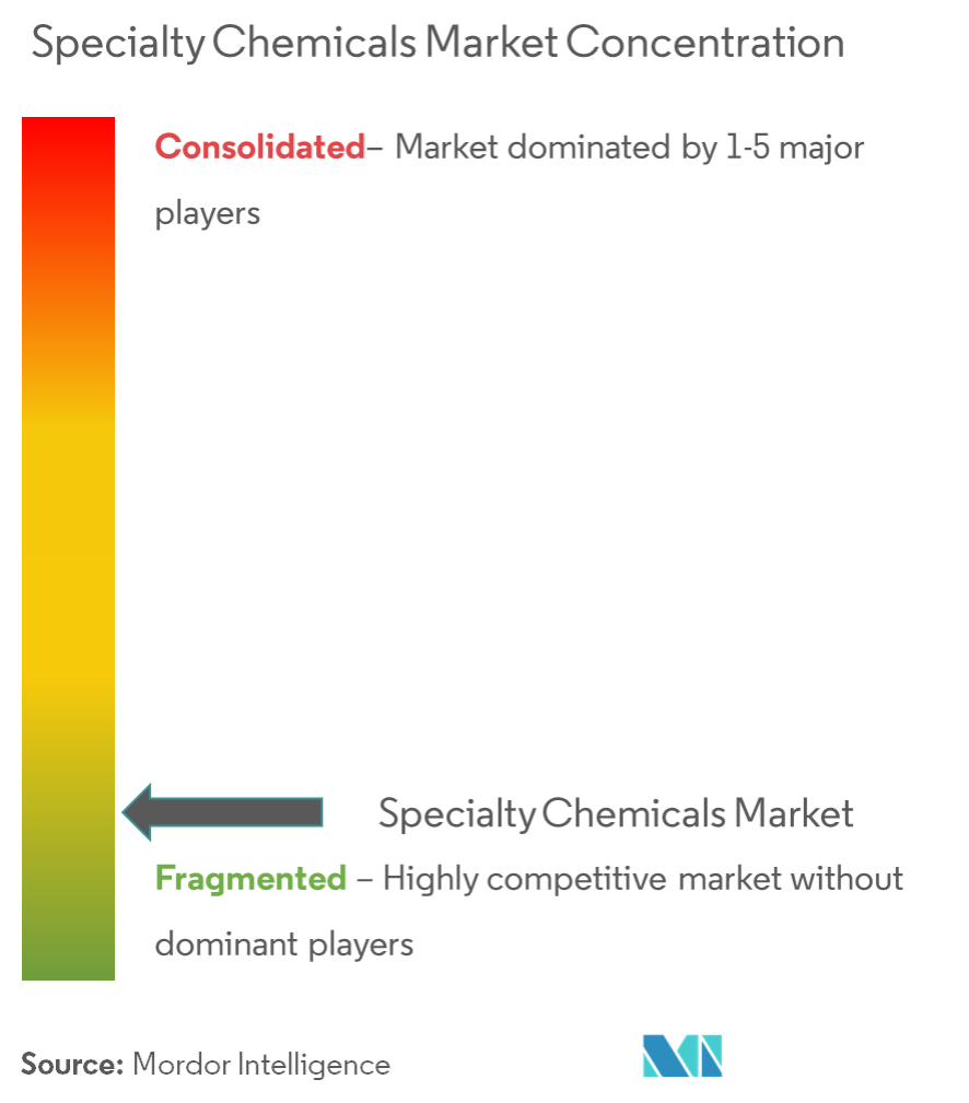 Specialty Chemicals Market - Market Concentration