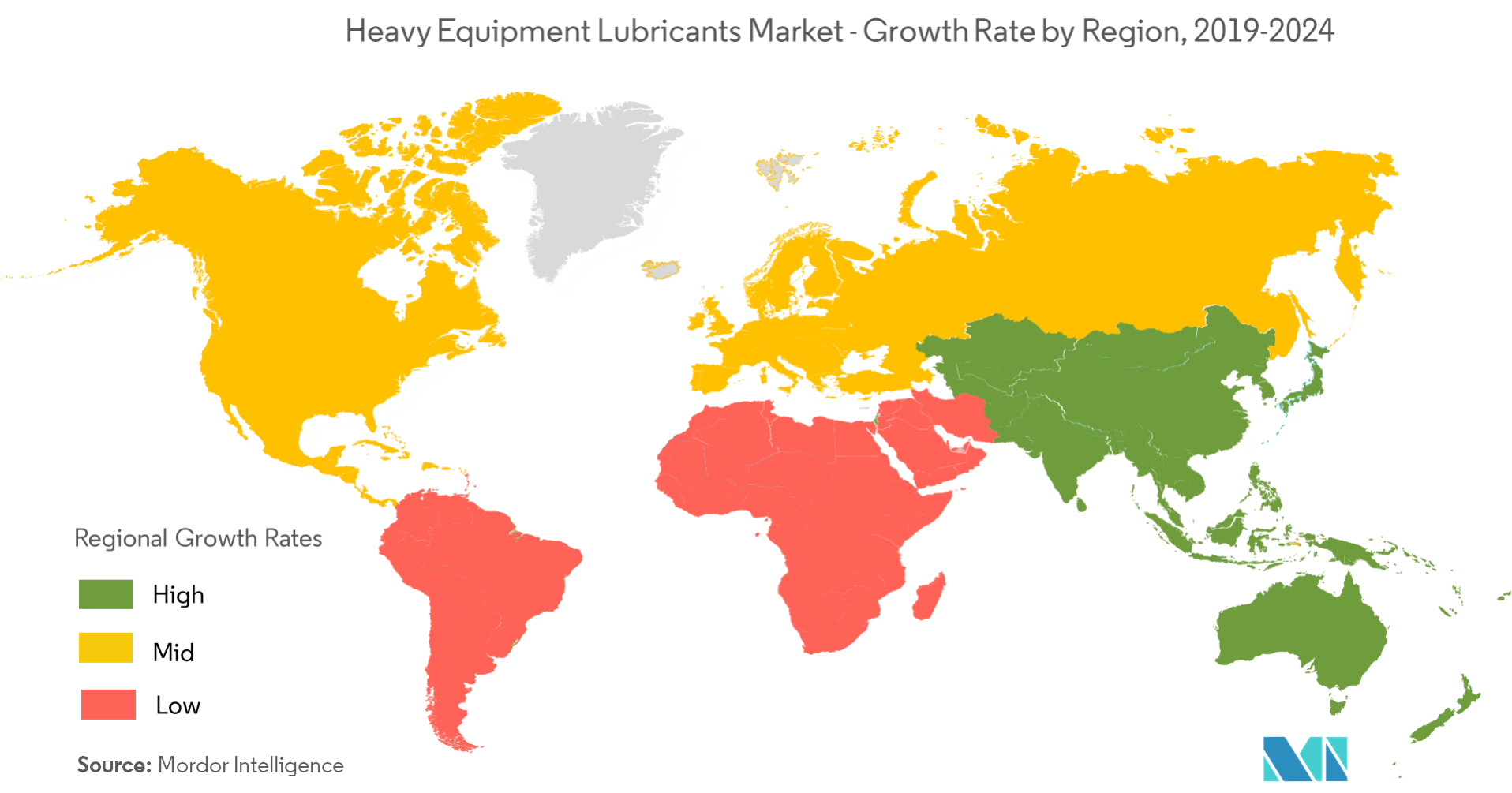 heavy equipment lubricants market - growth rate