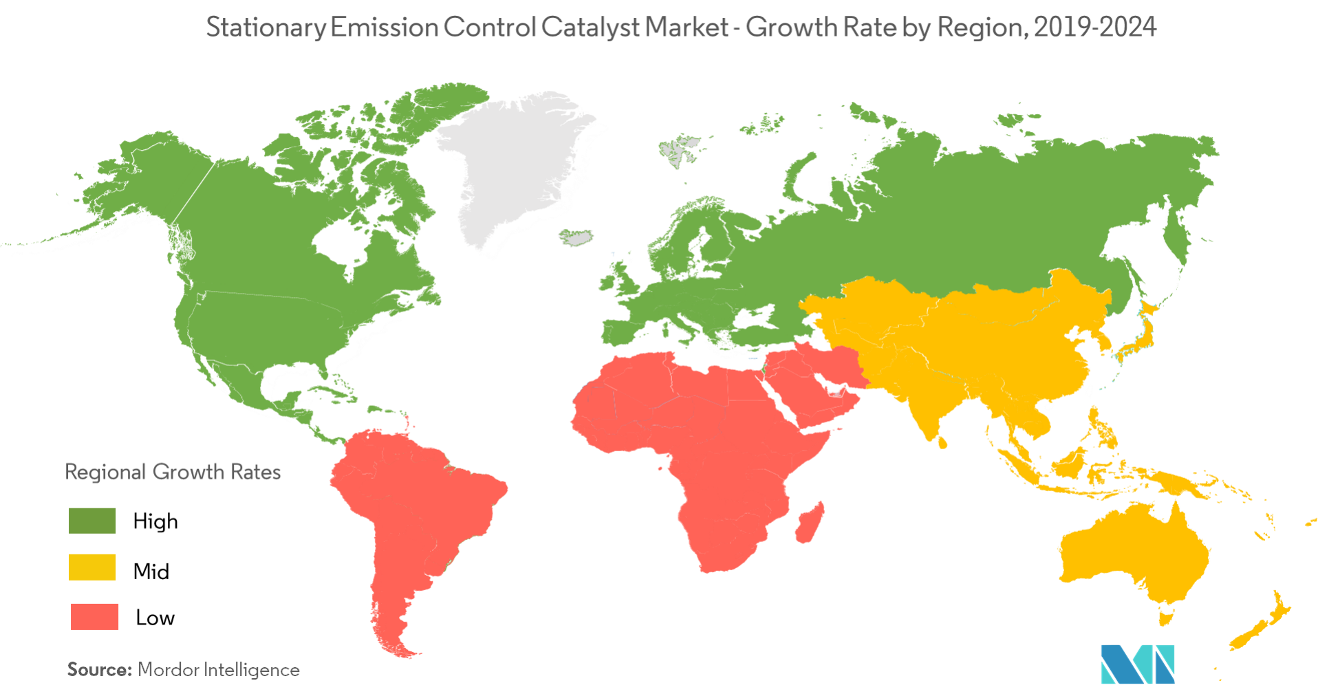 Stationary Emission control catalyst market-regional trends