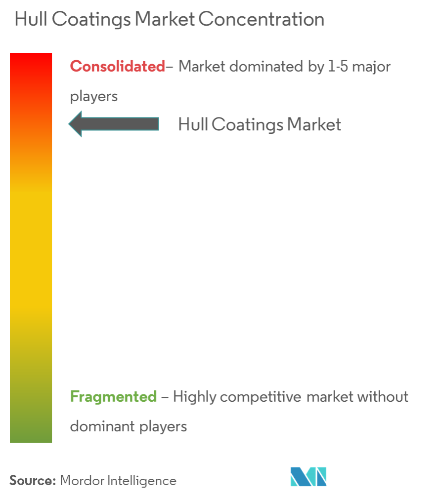 Hull Coatings Market - Market Concentration