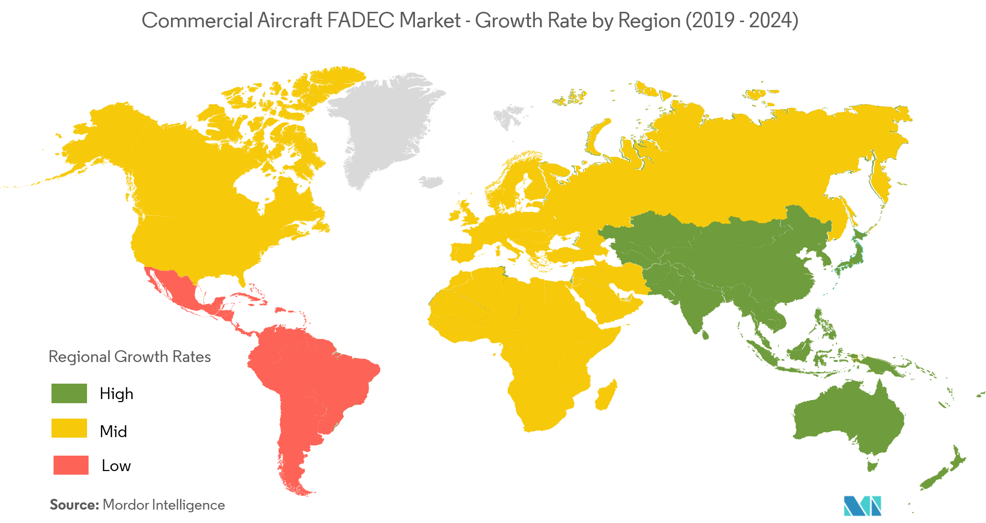 commercial aircraft fadec market geography