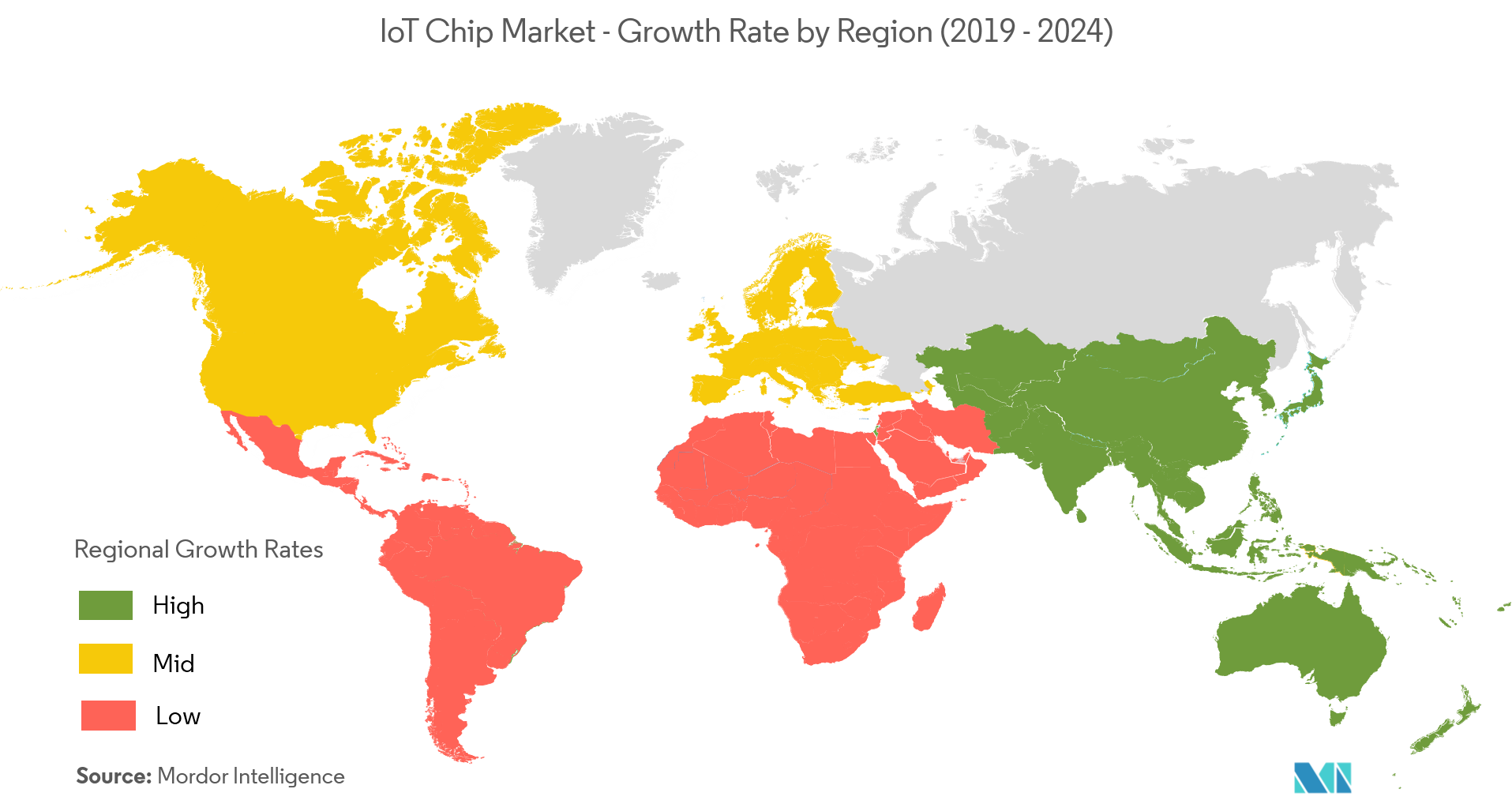 IoT Chip Market Growth Rate By Region