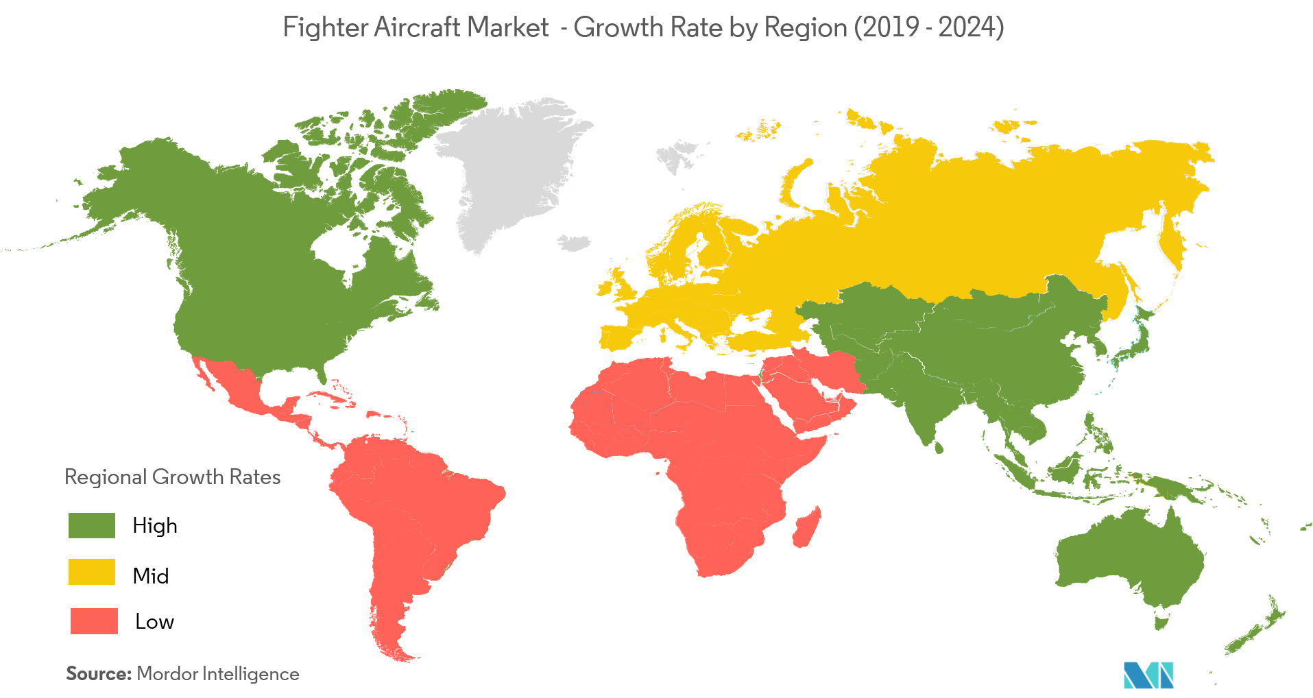 Fighter Aircraft Market geography