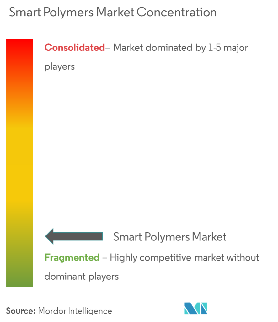 Smart Polymers Market - Market Concentration