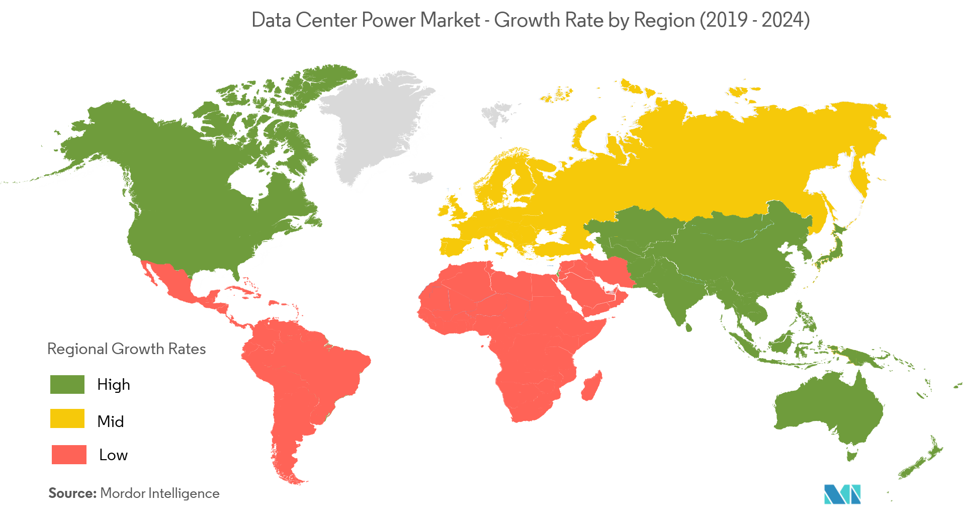 Data Center Power Market Growth Rate By Region
