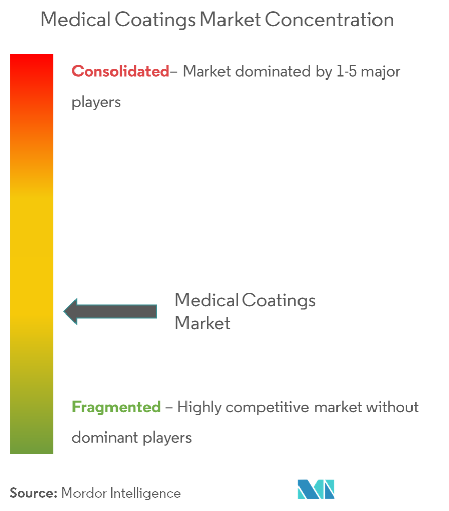 Medical Coatings Market - Market Concentration