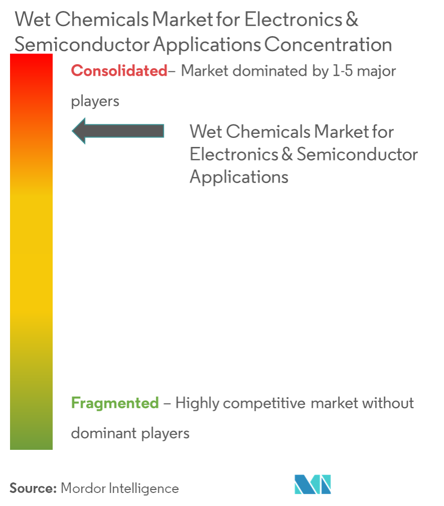 Wet Chemicals Market for Electronics & Semiconductor Applications - Market Concentration