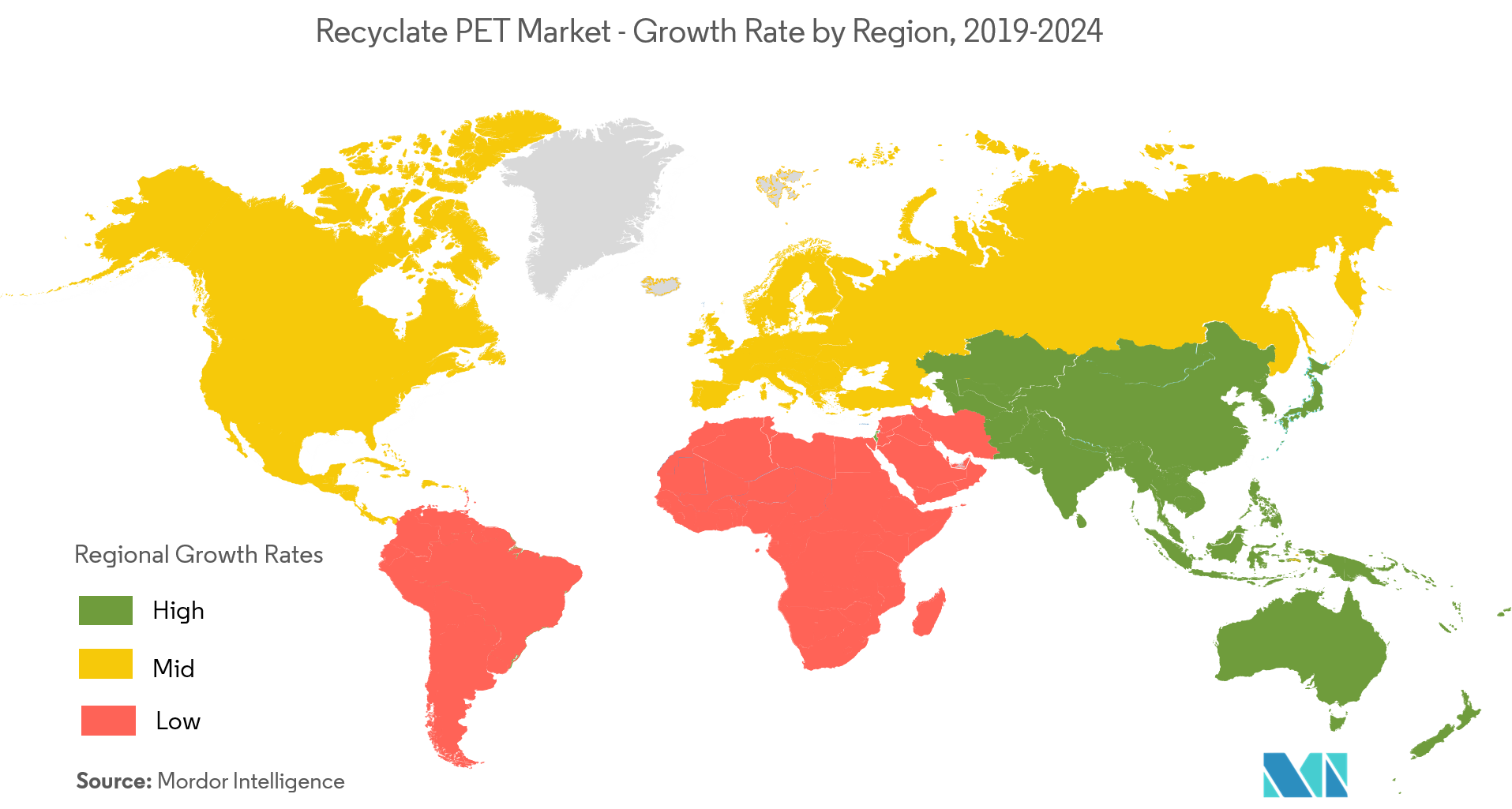 Recyclate PET Market - Regional Trends