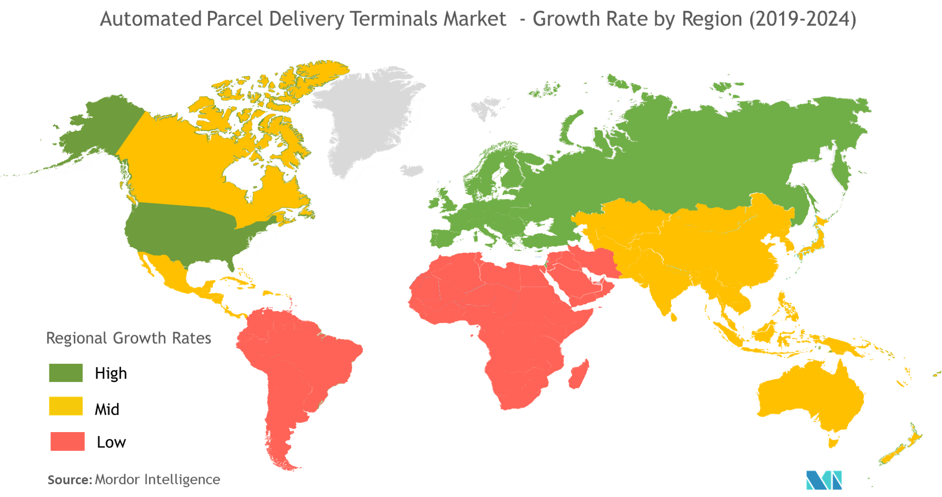 Automated Parcel Delivery Terminals Market Growth by Region