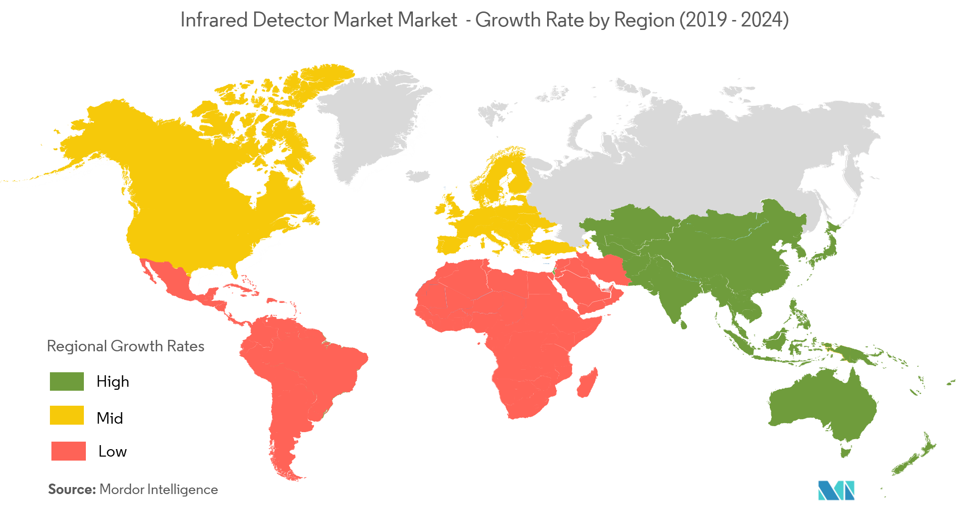 Infrared Detector Market Growth By Region