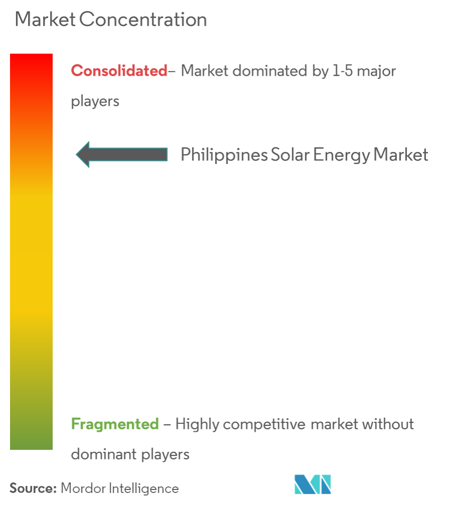 Philippines Solar Energy Market - Market Concentration