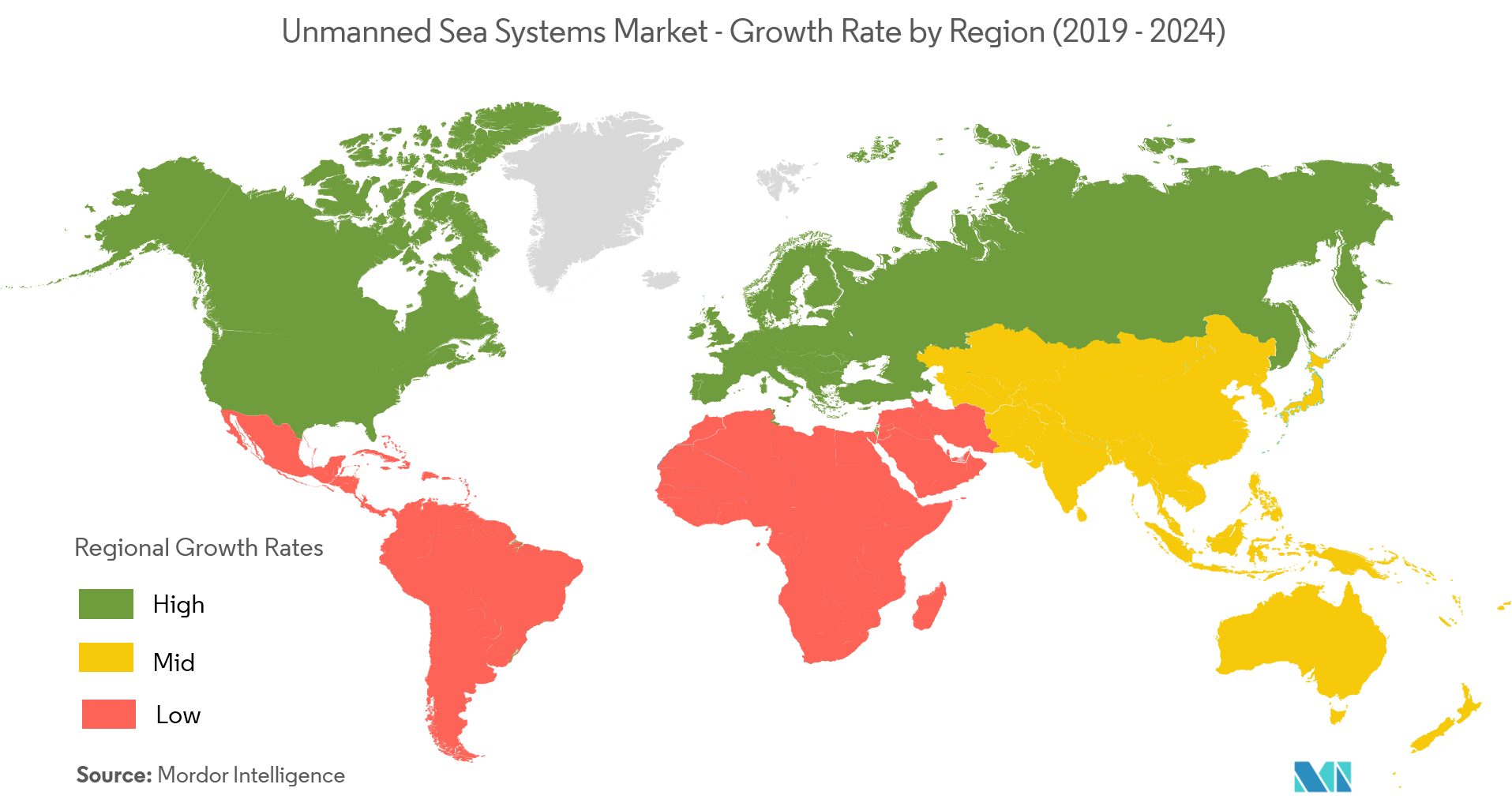 unmanned sea systems market geography