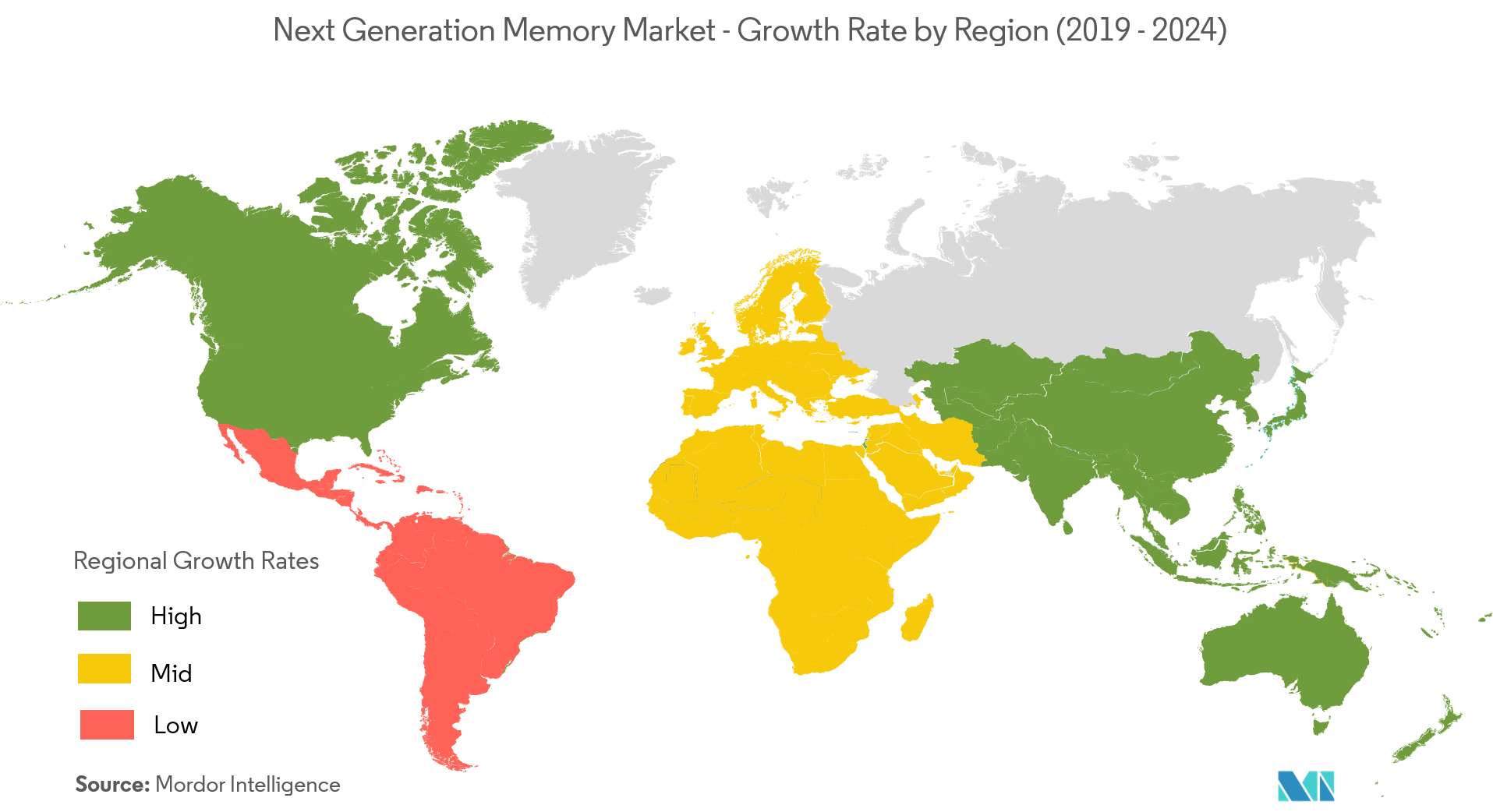 Next Generation Memory Market Growth Rate By Region