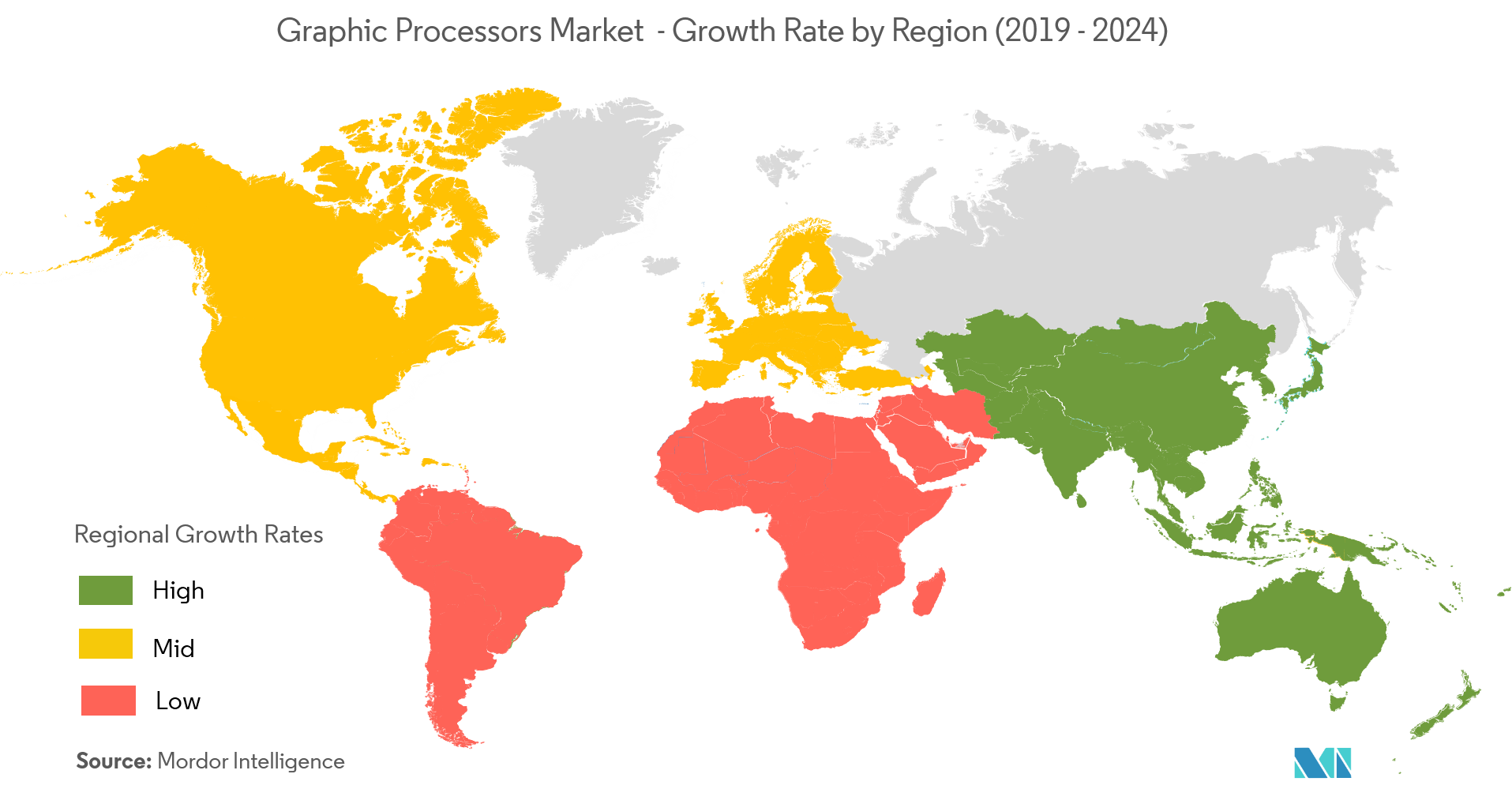 Graphic Processors Market Growth Rate By Region