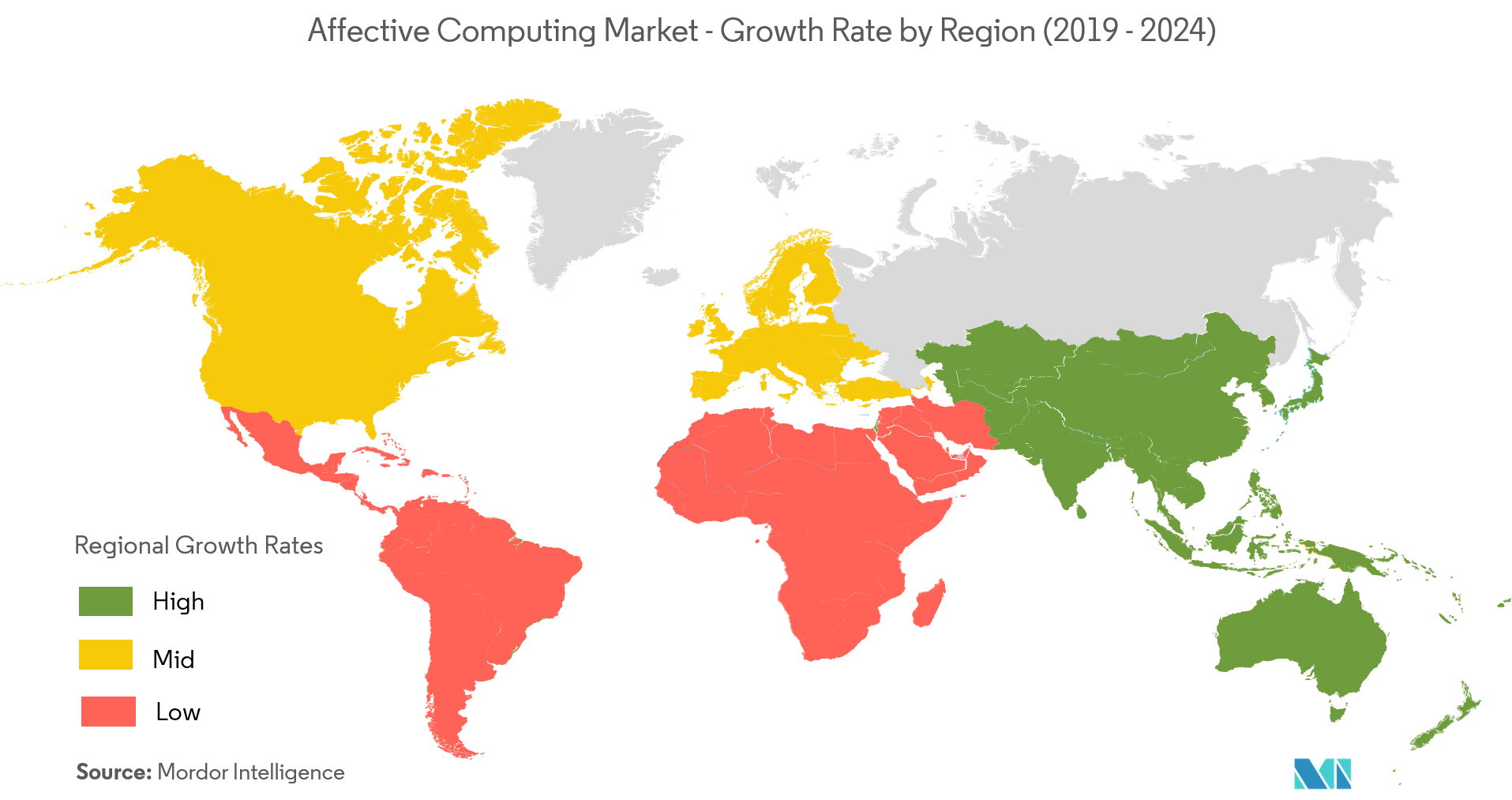 Affective Computing Market Growth by Region