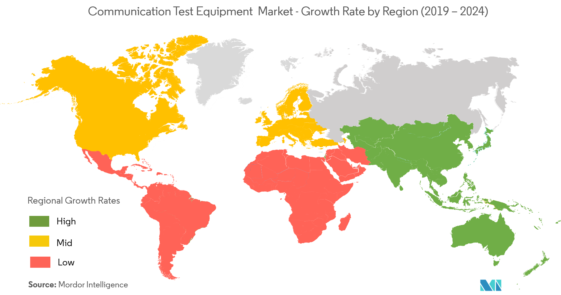 Communication Test Equipment (CTE) Market Growth Rate By Region