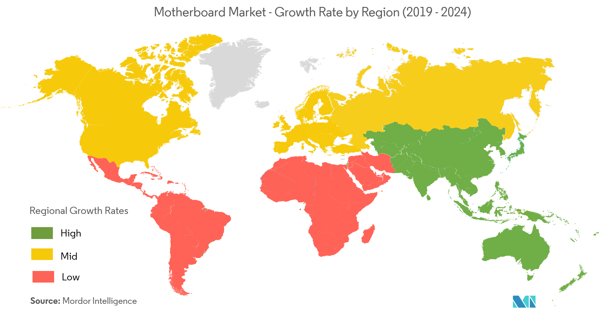Motherboard Market Growth Rate By Region