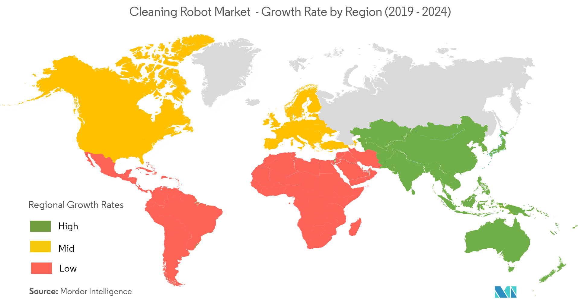 Cleaning Robots Market Growth Rate By Region