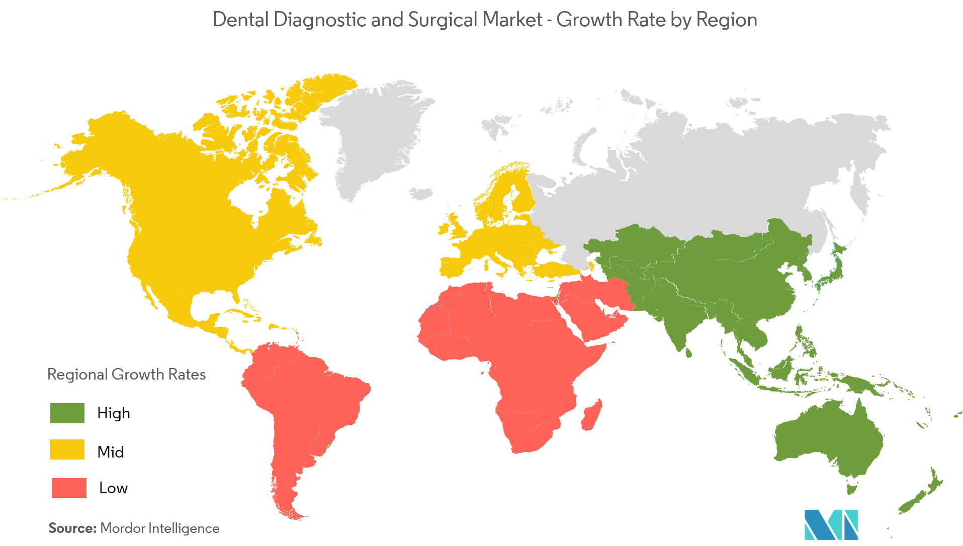 Dental Diagnostic and Surgical Market Growth Rate By Region
